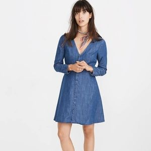 Madewell Denim Lilyblossom Button Front Dress